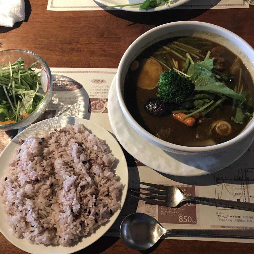 オーガニック キッチン ファームヤード チキン スープスパイス カレー スリランカ 黒米入りご飯