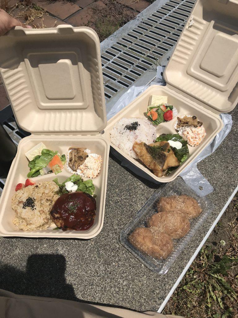 野歩 お弁当 ランチパック ハンバーグ 魚